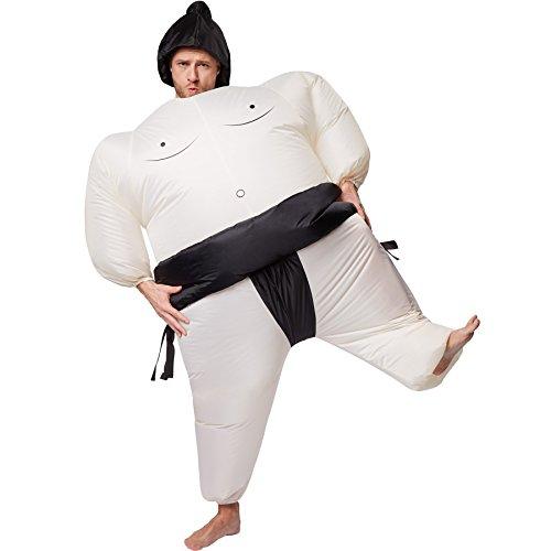 Selbstaufblasbares Unisex Kostüm Sumo-Ringer | Batteriebetrieben | Uneingeschränkte Bewegungsfreiheit | inkl. (Sie Machen Halloween Sich Paare Es Kostüme)