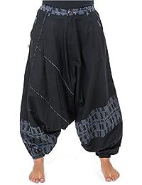 - Pantalon sarouel mixte urban ethnique noir gris bleu Naheda -