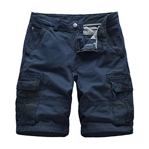 YURACEER Hosen Herren Kurze Hosen Sommer Aturestory Leinen Baumwolle Shorts für Sommer Casual Fitting Bord Kurze Mens Pure Colour Shorts Atmungsaktiv Schnell trocknend x1