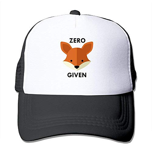 Zero Fox Given Adult Fitted Mesh Hat Baseball Caps Black