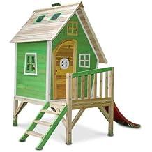 Kinderspielhaus MAYA - Stelzenhaus aus Holz mit Rutsche