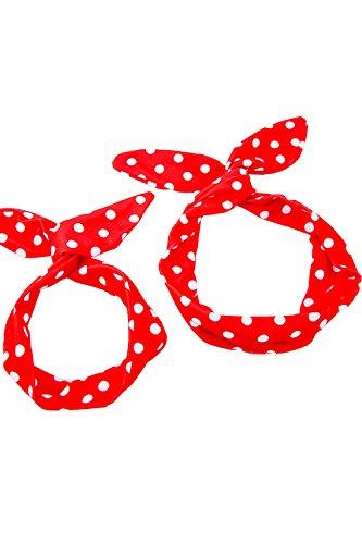 Babyonline® Mama und Baby Bowknot Haarband Stirnband Mutter und Tochter Haarreife kit Rockabilly Haarschmuck Polka Dots