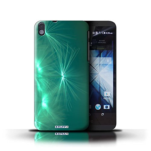 Kobalt® Imprimé Etui / Coque pour HTC Desire 816 / Rouge conception / Série Allumez la vie Turquoise