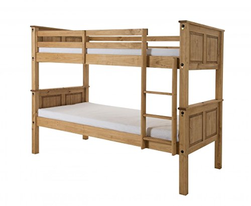 CORONA SINGLE PINE BUNK BED IN WAXED FINISH KELSEY STORES