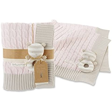 Baby Aspen My Sweet Baby Classic Cable Knit Blanket,