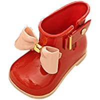 FeiliandaJJ Baby Regenstiefel, Kinder Nette Geleeschuhe Bow-Knoten Mädchen Schuhe