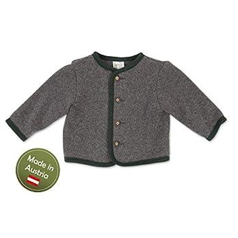Trachten Jacke Grau Grün Gr.92-128 Baby Buben Kinder Strick Weste