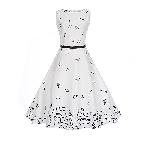 Full Sequins Round Party Costume Damen Abendkleid Cocktailkleid Festliches Rückenausschnitt /X3-White,S ()