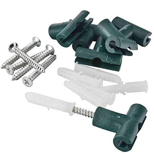 Tenax clips di fissaggio a muro per rete rampicanti corolla, confezione da 6 pezzi, verde