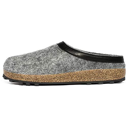 Giesswein Chiemsee, Unisex-Erwachsene Pantoffeln, Grau (017 Schiefer), 41 -