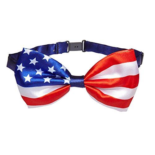 NEU Fliege USA, blau, weiß, (Kostüme Usa Party)