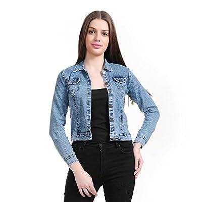 Girls Shopping Denim Jacket for ladies/women(Dark Blue)