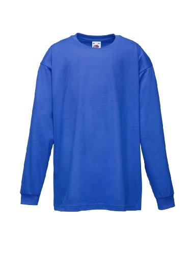 Kinder Langarm T-Shirt Kids Shirt - Shirtarena Bündel 104,Königsblau