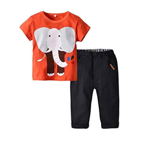 Camisetas + Pantalones Conjuntos para 1-5 años bebé Niños, Tops de Manga...