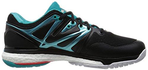 adidas Damen Handballschuhe Stabil Boost W core black/shock green s16/ftwr white