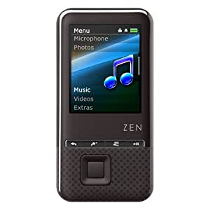 Creative ZEN Style 100 4GB MP3 and Video Player with 1.8 inch Screen - Black
