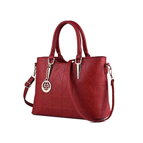 Emotionlin Style Europei Femminili Borsa Spalla Pure Color Pu Leather
