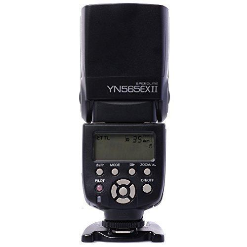 Yongnuo Flash YN-565EX II Sans fil TTL Pour Canon 1D 1Ds 1DII 1DIII 5D III 5D II 30D 40D 50D 350D 400D 450D 500D 550D 600D 1000D 1100D Canon Rebel XS XSi XTi T1i T2i T3+WINGONEER® diffuseur