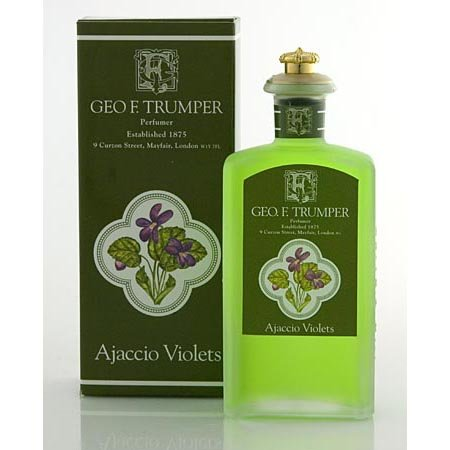 Geo F. Trumper Ajaccio violets Cologne Verre Crown Dessus Flacon 100 ml
