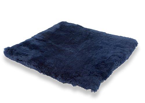 Oreiller en peau de mouton bleu 40x40cm DE LUXE