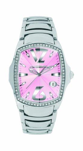 Chronotech CT7896LS/07M - Reloj analógico de mujer de cuarzo con correa de acero inoxidable plateada
