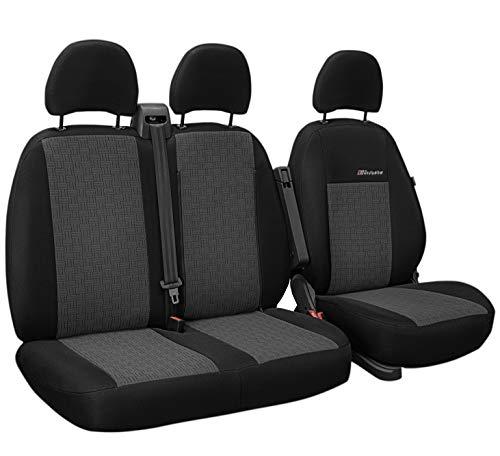 Exclusive Autositzbezüge Sitzbezüge Universal Fahrersitz + 2er Beifahrersitzbank Schonbezüge (Akropolis)