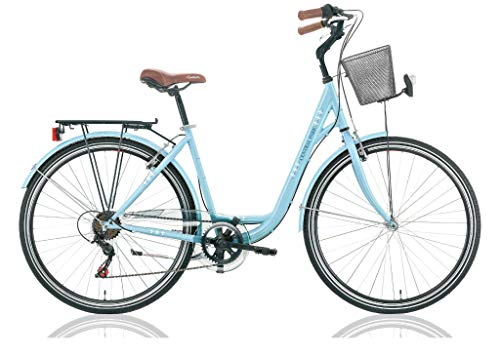 "Frank Bikes 28"" 28 Zoll Damen City Trekking Fahrrad CITYFAHRRAD CITYBIKE DAMENFAHRRAD CITYRAD DAMENRAD Shimano 6 Gang Central Park BLAU"