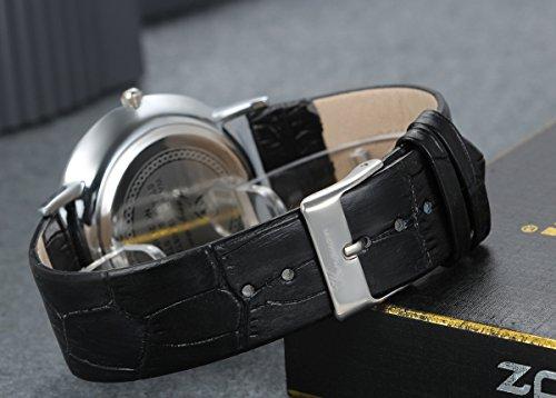 Lancardo 2pcs Herren Damen Freundschafts Armbanduhr, Casual Analog Quarz Zeitloses Srtass Zifferblatt Design klassisch Uhr für Lieben Valentinstag Paar Paare Geschenk, Leder Armband, schwarz