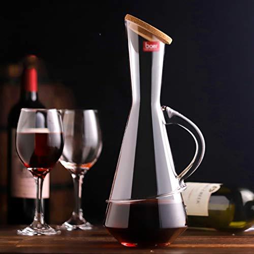 Dekanter | Rotweinfilter | Bleifreier Kristalldekanter | Weintrenner | Weinbelüfter | Rotweinglas | Rotweinfilter | (Kapazität : 1750ml) - 1750 Laser