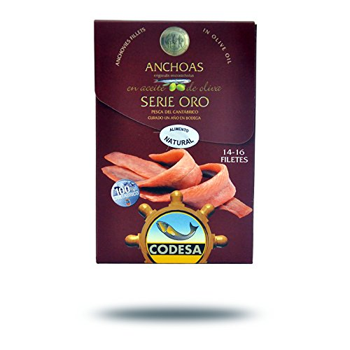 Filetti di Acciughe Mar Cantabrico Serie Oro CODESA 120 g - CODESA ANCHOAS SERIE ORO 120 g
