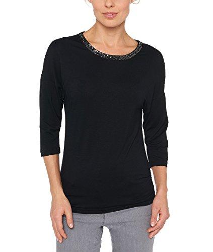 Bonita Damen T-Shirt 3/4-Arm Schwarz 1011090 - Kollektion Sommer 2019 innerhalb 4 Wochen ausverkauft !!! (XL) (Gala-dinner)