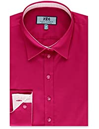 336b20e08dd7c HAWES   CURTIS Womens Casual Sugar Pink Semi Fitted Cotton Shirt Single Cuff
