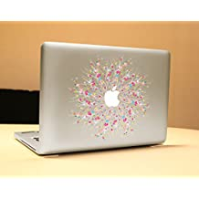 """NetsPower® Moda Modelo Colorido Vinilo Calcomanía Pegatina Adhesivo Sticker Power-up Art para Apple MacBook Pro/Air 13"""" 15"""" - Flor Romántica"""