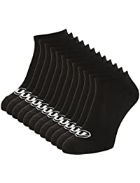Ultrasport - Calcetines bajos, paquete de 12 unidades, color negro, talla 43-46