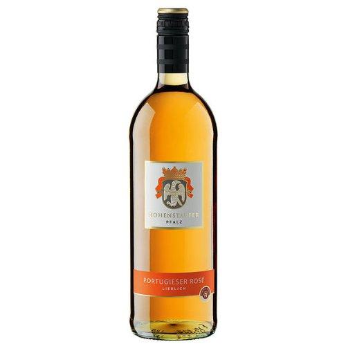 6 Flaschen Hohenstaufer Hohenstaufer Portugieser Rosé QbA Roséwein lieblich a 1,0L