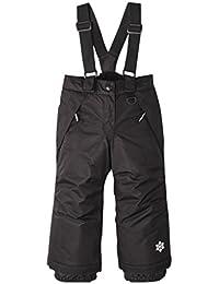 Pantalones de Esquí para Niños Pantalones de Babero Traje de Nieve Impermeable para Deportes de Invierno