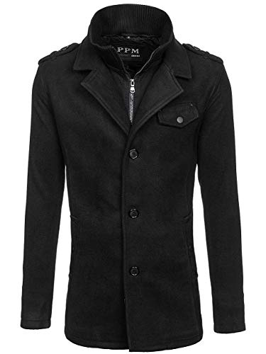 PPM Herren Mantel Jacke Winterjacke Wärmemantel Herrenmantel Warm 4D4 Mix