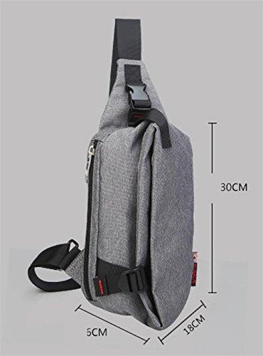 Qualitativ hochwertige Brust Männer und mehrere große Kapazität im Freien kleine Tasche Schnalle Mode gray