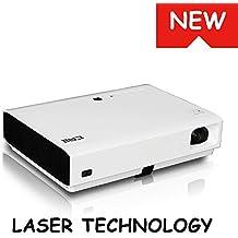 Láser LED Proyector DLP Full 3D 3000 ANSI lúmenes portátil vídeo casero relación de contraste 20000:1 automático piedra clave