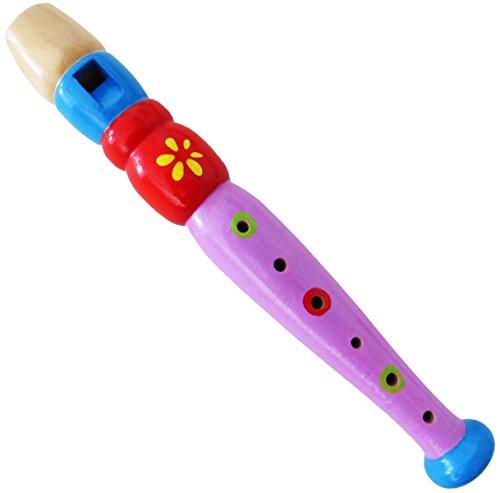 keepdrum KFL2 FL Flöte aus Holz Musikspielzeug für Kinder Lila Flieder - Kinder-flöte Holz