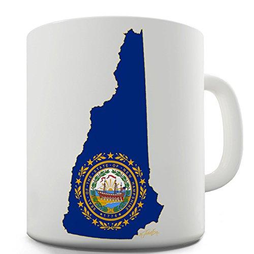 New Hampshire Seal e mappa usa stato bandiere simbolo tazza