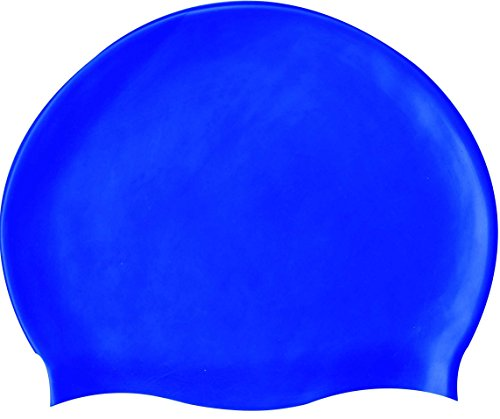 SPORTS HOUR Men's Silicon Swimming Cap Large (Blue)