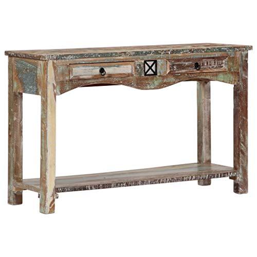 vidaXL Konsolentisch Vintage Konsole Beistelltisch Highboard Sideboard Flurtisch Ablagetisch Flur Wohnzimmer 120x40x75cm Recyceltes Massivholz