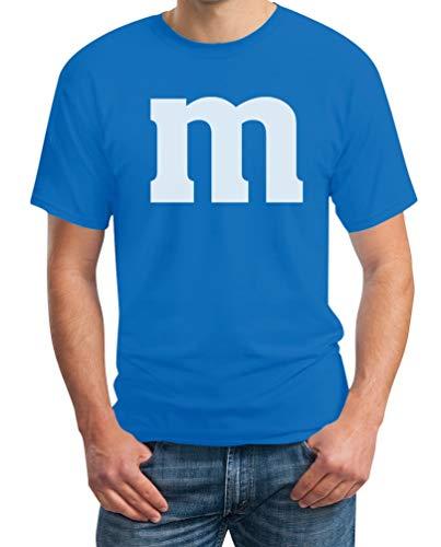Eine Kostüm Für Gruppe - Süßes M Outfit Herren Karneval Fasching Gruppen-Kostüme T-Shirt Medium Hellblau