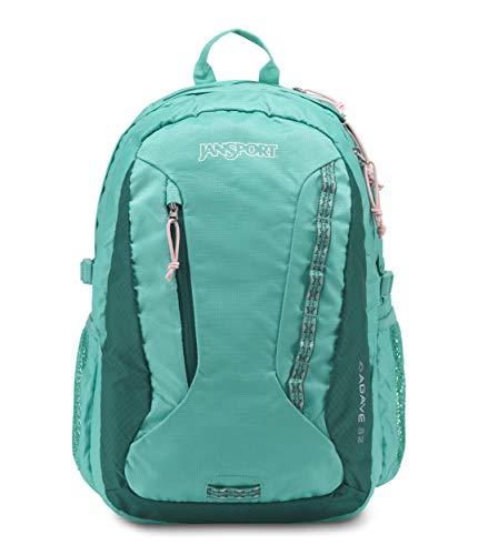 JANSPORT Women's Agave Backpack Ocean Teal and Lapland Green Ocean Green
