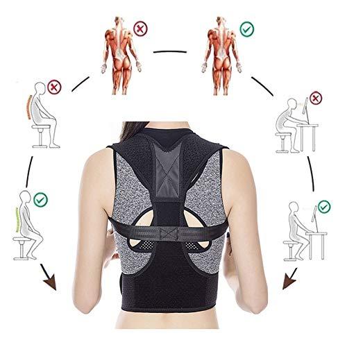 LHHX Haltungskorrektur Geradehalter Körperhaltung Korrektor Rückenstabilisator Krperhaltungskorrektor Medizinisch Orthopädischer Posture Corrector Frauen Männer Haltungstrainer Schwarz -