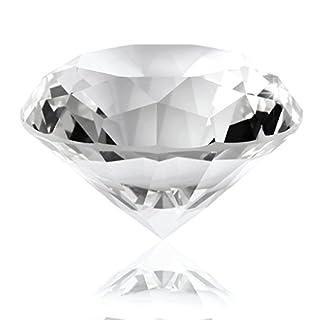 AKORD Big Crystal Glas geschliffen klar Giant Diamant Hochzeit Geschenke, 6x 6x 2,6cm