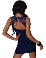 10534 Fashion4Young Damen Tailliertes Minikleid Long Shirt Top Körper betontes Kleid in 8 Farben 2 Größen