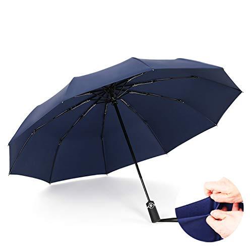 YUNDING Regenschirm Faltbar, Vollautomatischer Betrieb, Winddicht/UV-Schutz/Regensturm,...