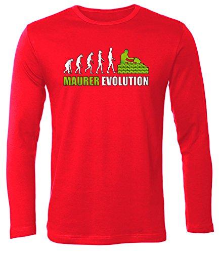 Maurer Evolution 4580 Herren Longsleeve (HL-R-Weiss-Grün) Gr. XXL
